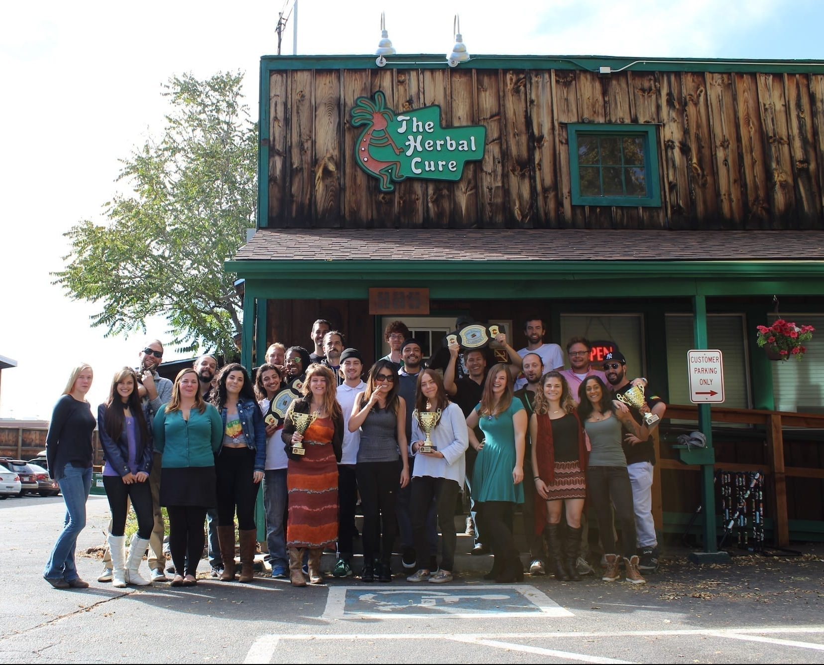 The Herbal Cure dispensary crew family