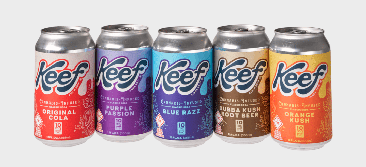 keef soda cans